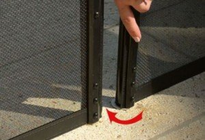 removable pool fence post