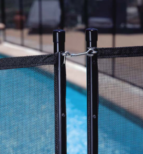 removable pool fence panels clipped