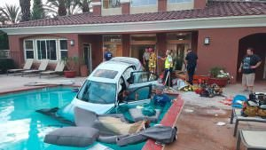 Car drives into a pool - need pool insurance?